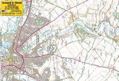 Salisbury to Stonehenge via the Avon Valley - front of the map