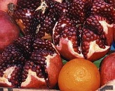 Seven (Local) Species for Tu B'Shvat.  Seven Species include: Barley, Wheat, Pomegranates, Dates, Figs, Olives and Grapes