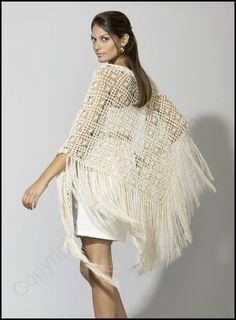Patrón chal de crochet de lanas Katia