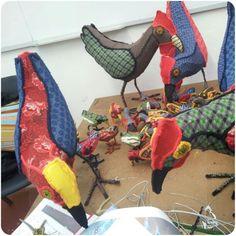 ANI013 - 2013 Textile Sculpture, Dinosaur Stuffed Animal, Sculptures, Wire, Felt, Textiles, Toys, How To Make, Animals