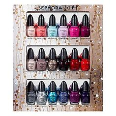 On the wings of the QVC Sephora by Opi Gift Set I posted about here's another fab little gift set to appease the nail girl's appetites out there. This set