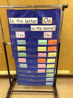 Great back-to-school or anytime idea for name and letter recognition. Each child takes a turn saying his or her name and then places her name card in the appropriate column. Fun!