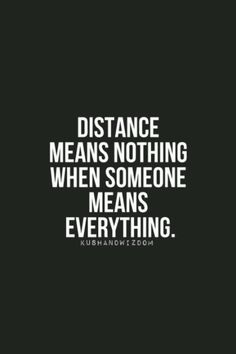 ...but distance and silence are two different things.