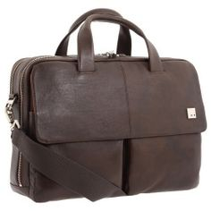 KNOMO London - Warwick Double Compartment Laptop Briefcase  - Bags and Luggage
