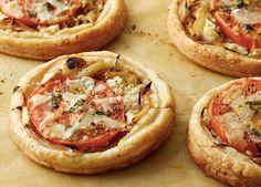 Tomato and Goat Cheese Tarts Recipe : Ina Garten : Food Network Tart Recipes, Appetizer Recipes, Appetizers, Cooking Recipes, Cheese Recipes, Appetizer Party, Dinner Recipes, Fig Recipes, Greek Recipes