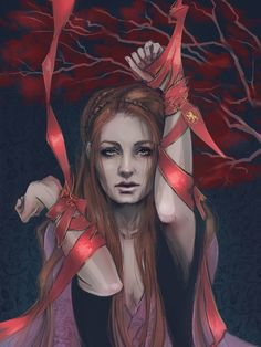 Beautiful Sansa Stark Concept Art by PolliPo