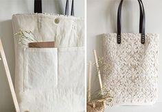 ~ ~ ~ Artikel Einführung ~ ~ ~ Handgemachte Spitze Taschen, Hochzeit Taschen. Sehr shabby chic und Vintage-Look. Ursprünglich entworfen. Nicht aus herstellen, so dass Sie sie woanders nicht finden. Einsetzbar für Arbeit, Freizeit und einkaufen. Perfektes Geschenk für Brautjungfern!