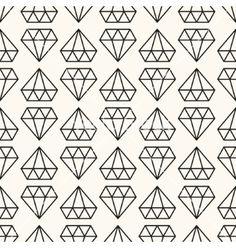 Seamless retro pattern with diamonds vector by svetolk on VectorStock®