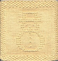 Snowman Knit Dishcloth Pattern Only PDF Digital Download