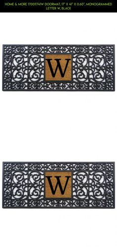 "Home & More 170011741W Doormat, 17"" x 41"" x 0.60"", Monogrammed Letter W, Black #products #tech #w #parts #decor #racing #kit #gadgets #plans #outdoor #shopping #drone #technology #fpv #camera"