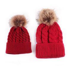 b9ca5b9079c Mother Child Baby Toddler Kids Girls Boys Warm Hat
