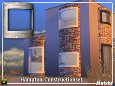 The Sims Resource: Hampton Construction set by mutske • Sims 4 Downloads