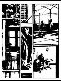 Reflex by Danijel Zezelj screenshot Sketch Box, Black And White Comics, Comic Layout, Graphic Novel Art, Traditional Ink, Graphic Illustration, Illustrations, Comic Page, Manga Art