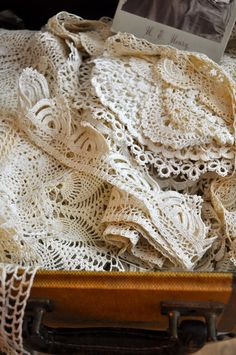 Beautiful Old Lace....Blessed Serendipity: White Wednesday