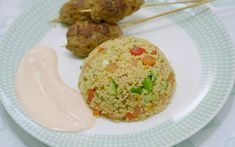 Greg's pork kebabs with couscous on Eat Well for Less? Kebab Recipes, Pork Recipes, Cooking Recipes, Healthy Recipes, Healthy Meals, Healthy Food, Meal Planner, Eating Well, Family Meals