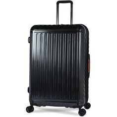 28 Black Racer Luggage Hard Sided Travel Expandable Suitcase Bag 4 Wheel Trolley #28BlackRacer