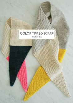 10 OCTOBER DIYS – Color Tipped Scarf