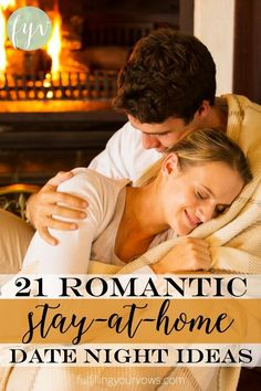 """Are funds tight but you still want to enjoy """"dates"""" with your spouse? Check out these 21 Romantic Stay-at-Home Date Night Ideas! :: fulfillingyourvows.com"""