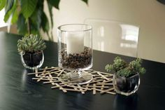 Decorating with Popsicle Sticks   http://allputtogether.com/2013/04/08/decorating-with-popsicle-sticks/