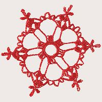 Make a Crocheted Snowflake Ornament - pattern