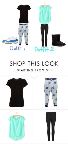 """Outfit 1 and 2"" by keke554 ❤ liked on Polyvore featuring interior, interiors, interior design, hogar, home decor, interior decorating, Vince, Indigo Collection y UGG Australia"