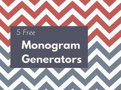 Create a Custom Monogram With These Free Monogram Generators: 5 Free Monogram…