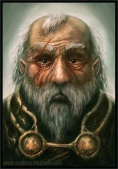 m Half Elf Cleric midlvl portrait Robert Moffat of that Ilk