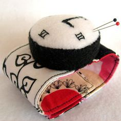 scrappy wrist watch pincushion
