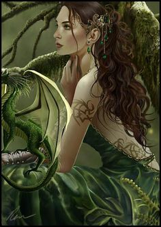 earth fairy with dragon