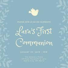 Znalezione obrazy dla zapytania first communion invitation