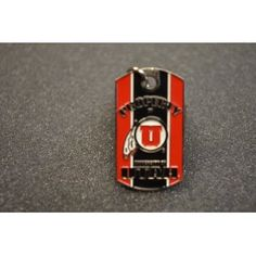 University of Utah Black/Red Dog Tag /Key Chain