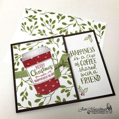 Stampin Up - Merry Cafe - Coffee Cafe - Coffee Cups Framelits - 2017 Holiday Catalog - i♥Cards2