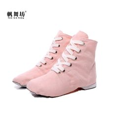 free shipping ddd69 07f70 6.95 14% de réduction Fan wu fang 2017 Nouveaux Sports Sneakers de Danse  Jazz Chaussures De Danse dentelle Up Doux Semelle Haute top Hommes Femmes  Enfants ...