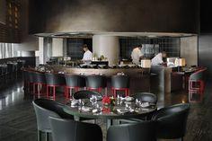 Situated in Downtown Dubai on the first floor of the breathtaking Burj Khalifa, Armani Hashi is an extraordinary nouvelle cuisine Japanese restaurant. Giorgio Armani, Armani Hotel Dubai, Wilson Associates, Unique Restaurants, Luxury Kitchens, Designer, Kitchen Design, Kitchen Rustic, Kitchen White