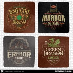 Middle Earth Brews 4-Coaster Set