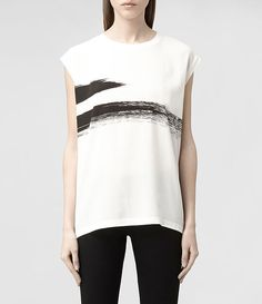 $140 Womens Strike Top (Chalk) | ALLSAINTS.com