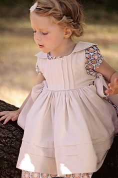 Rosemary Pinafore & Slip – Violette Field Threads – About Children's Clothing Little Girl Fashion, Little Girl Dresses, Kids Fashion, Girls Dresses, Flower Girl Dresses, Little Girl Dress Patterns, Baby Dresses, Dress Girl, Flower Girls