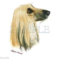 Afghan Hound Dog T-SHIRT  Sweatshirt or Fabric Block #800 by AlwaysInStitchesCo on Etsy