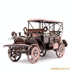 Gold supplier quality vintage car metal crafts Wrought iron crafts, gifts, business gifts, Christmas gifts, holiday gifts,
