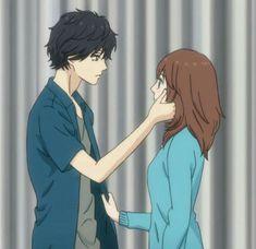 Anime Ao Haru Ride, Futaba Y Kou, Futaba Yoshioka, Blue Springs Ride, Anime Screenshots, Cute Anime Couples, Anime Art Girl, Aesthetic Anime, Anime Characters