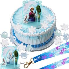 Elsa, Anna & Olaf Disney Frozen Cake Topper & Snowflake Rings & Birthday Lanyard A Birthday Place http://www.amazon.com/dp/B00J7E3XMW/ref=cm_sw_r_pi_dp_x68Itb1RXEKK3HCC