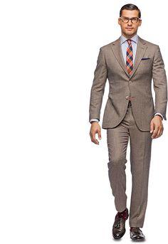 Suit Brown Plain Roma P3373 | Suitsupply Online Store