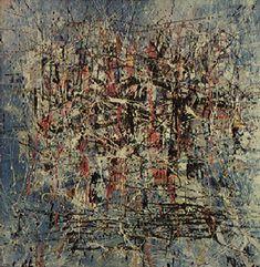 Composição 1957 | Antonio Bandeira óleo sobre tela 90.00 x 90.00 cm