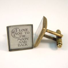 Antique Brass Cufflinks Victorian Wedding Moon and by madebypeggy, £25.00