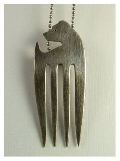 Sterling Fork Dog Jewelry by Robin Wade Jewelry on Etsy. #plocomiUpcycle