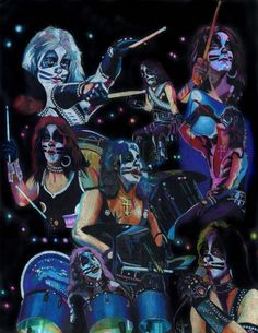 Peter Criss prisma collage by choffman36.deviantart.com on @deviantART