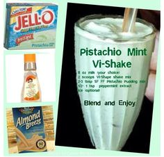 Pistachio mint (shamrock) vi shake recipe