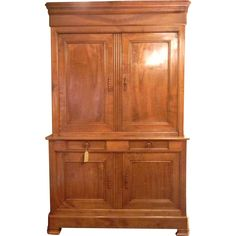 Louis Philippe 19th Century Armoire Deux Corps from maisondecorantiques on Ruby Lane
