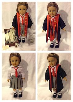I might make this for my sis Boy Doll, Girl Doll Clothes, Girl Dolls, American Girl Doll Costumes, American Girl Clothes, Hermione Costume, Ag Doll Crafts, Acceptance Letter, Chocolate Frog