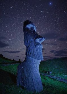 We have always reached for the stars and made ourselves bigger than we are. One day, the stars will be within our grasp. Ancient wonders.... Isla de Pascua, (Chile).